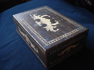 19Th Century Inlaid Wooden Puzzle Box