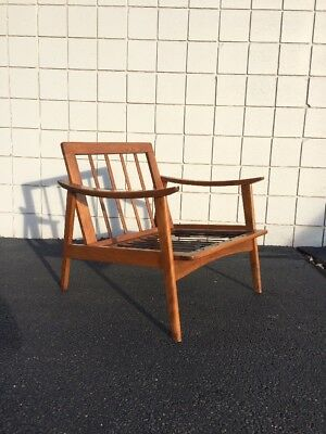 Mid Century Modern Danish Walnut Lounge Chair Yugoslavia