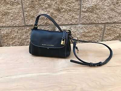 a19a2d71e93d3 NWOT B Marc Jacobs Mini The Boho Grind Black Leather Shoulder Cross body Bag