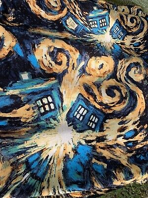 Dr. Who Exploding Tardis Infinity Cowl Neck Scarf Blues BBC