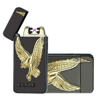 3D Eagle USB Electric Dual Arc Flameless Torch Rechargeable Windproof Lighter