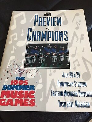1995 DCI Preview Of Champions Program Drum Corps International