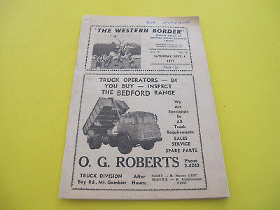 1971 The Western Border Football League 32 pages