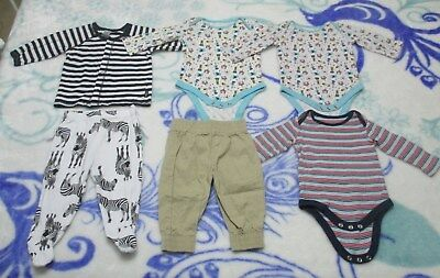 9 Items Size 00, Winter, New And As New, Rompers, Pants, Coat, Top, See Photos
