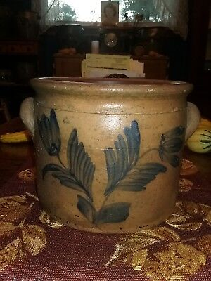 R.J. Grier Mount Jordan Chester County PA Decorated Stoneware Cake Crock