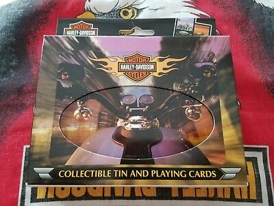 Harley Davidson Playing Cards In Collectable Tin