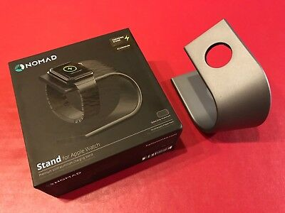 Nomad Charging Stand for Apple Watch 1 Apple Watch 2 Space Gray Solid Aluminum