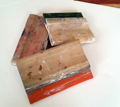 Used squeegees for screen printing. Lot of 3.