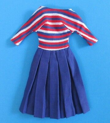 AUCTION Vintage Barbie - ABOARD SHIP #1631 - Nautical Navy Blue Red White Dress
