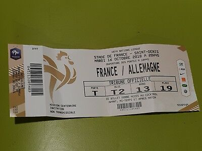Used VIP Ticket Frankreich Deutschland France Germany DFB Nations 2018 Gold