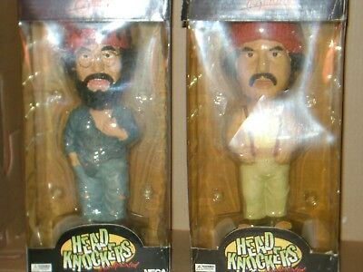 Neca~Head Knockers~Cheech And Chong~Up In Smoke~Pair Of 2 Bobbleheads~Very Rare~