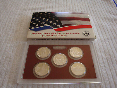 2010 US MINT AMERICA THE BEAUTIFUL QUARTERS SILVER PROOF SET w/ COA First Parks