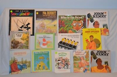 13 children's books with TALL TALES and FOLKTALES for $15.00