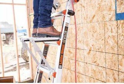 Little Giant Ladder Systems 10104 375-Pound Rated Work Platform Ladder Access...