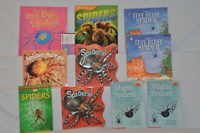 10 children's books about SPIDERS for $11.00