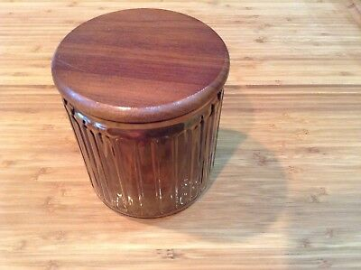 Vintage Pipe Tobacco Glass Humidor Jar  Clean Nice Condition