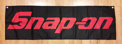 Snap On Flag Automotive Shop Garage Man Cave Banner 57X17 inches