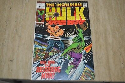 The Incredible Hulk #125 (Mar 1970, Marvel) And Now, the Absorbing Man