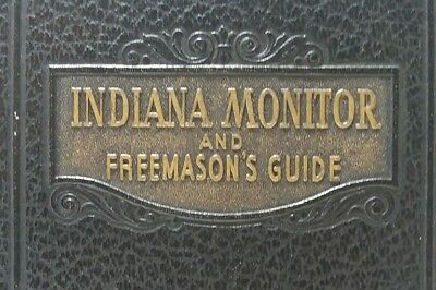 Vintage Indiana Monitor And Freemasons Guide Leather Bound Book 1947
