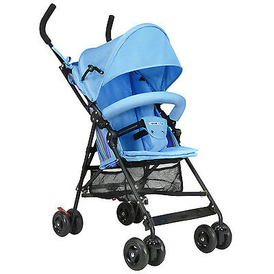 Traveler's Too Lightweight Easy-Fold Portable Umbrella Baby Stroller with Canopy