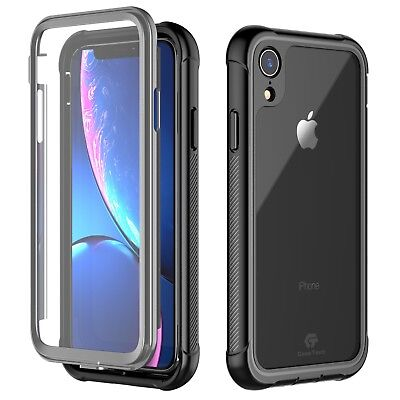 For Apple iPhone XR Case Shockproof Dustproof Cover w/ Built-in Screen Protector