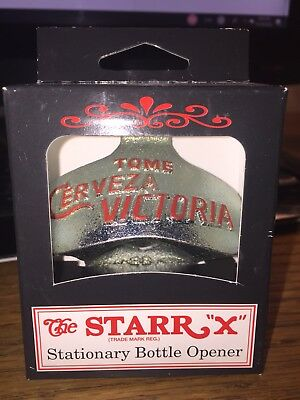Starr X  Tome Cerveza Victoria  Stationary Bottle Opener New Old Stock