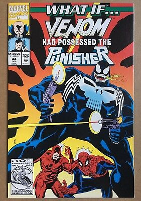 What If... v2 #44  (1992) Marvel  FN+ White Pgs   Venom Possesed Punisher