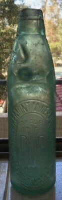 Scarce Claremont Wa Codd Marble Bottle Mineral Spring Co Botany Glass Works