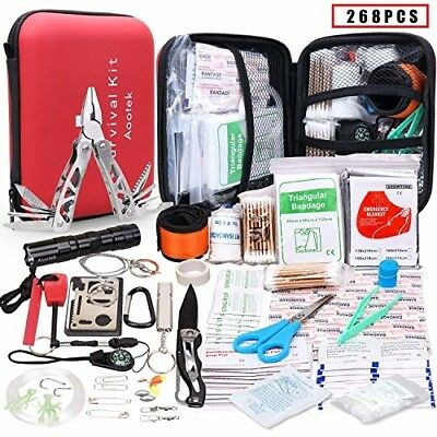 First Aid Emergency Survival Kit Trauma Bag Car Home Work Camping Hiking Bug Out