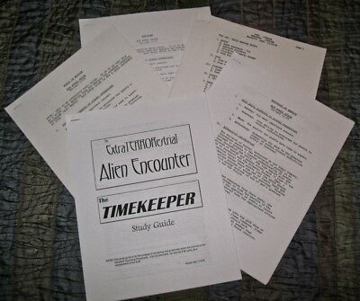 WDW Cast Guides (5), Horizons, Motion, Energy, Toad, Alien Encounter, Timekeeper