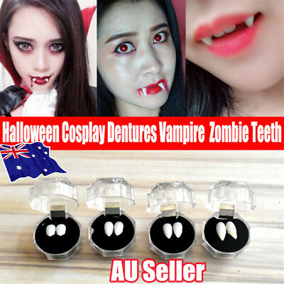 LOT Halloween False Tooth Dentures Zombie Vampire Ghost Cosplay Devil Fangs AUBO