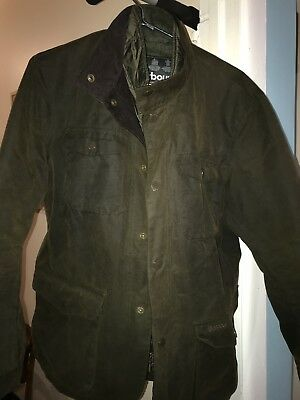 Barbour Ogston waxed cotton jacket - Olive, Small.