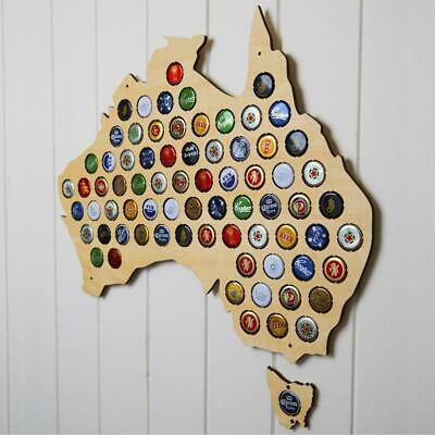 Beer Cap Map of Australia Wall Art