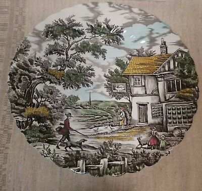 """The Hunter By Myott 10"""" Dinner Plate Multi-coloured, Good Condition, No Chips"""