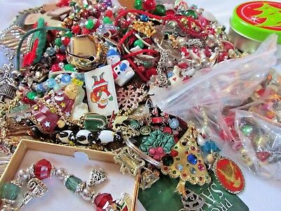 Christmas Jewelry: 4 LB Mixed Lot