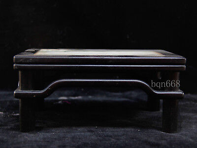 China rare antique Huanghuali Wood Marble Table Model statue