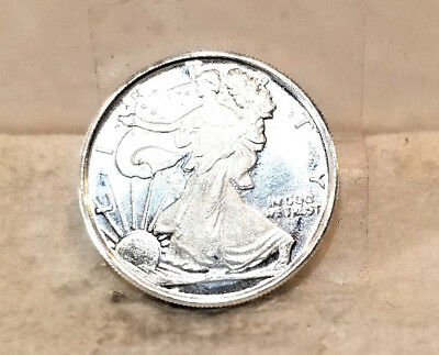 Genuine Pure .999 Silver Lady Liberty Round!