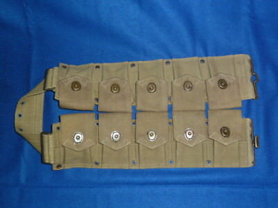 WW I M 1917  Dismounted 10 pocket Cartridge Belt