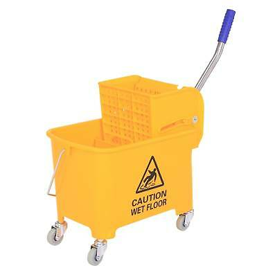 5 Gallon Commercial Restaurant Mop Bucket Janitorial Cleaning Rolling Industrial