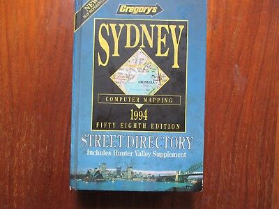 Gregory's Sydney Street Directory.1994 58th Edition  Very good condition.