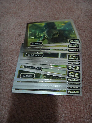 Star Wars Episode 1 Collector Trading Cards Silver Set
