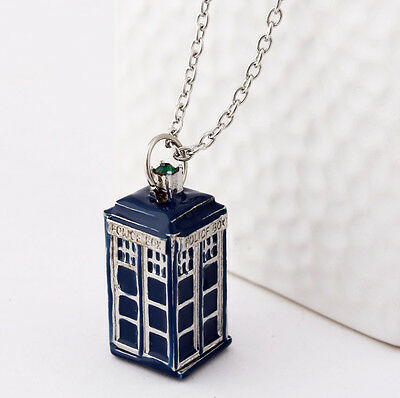 Who Is The Doctor's 3D TARDIS Pendant Necklace Cosplay Props Birthday Gift