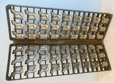 Alte Schokoladen Form Metall - Klappform Pferde - chocolates mold