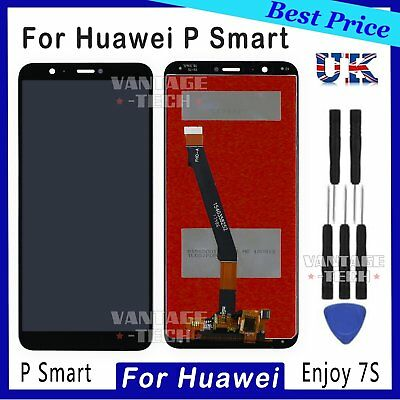 For Huawei P Smart FIG-LX1 LCD Touch Screen Digitizer Black Assembly Replacement