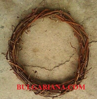 """12"""" HANDMADE NATURAL GRAPEVINE FRONT DOOR CHRISTMAS WREATH plain for decorating"""