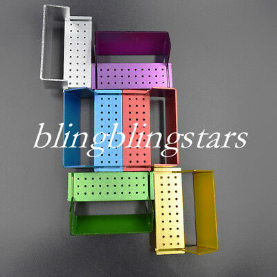 Dental Diamond Burs Block Holder 30 Holes High Speed Disinfection Colorful