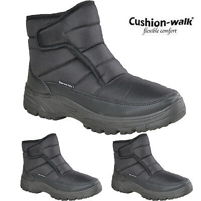 Mens Winter Snow Comfy Thermo Tex Boots Touch Fastening Tread Sole Warm Shoes