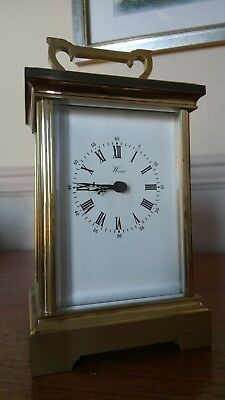 CARRIAGE CLOCK solid brass WEISS (British made)