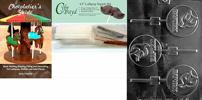 (+50 Stx/Bags/Bk) - Cybrtrayd Baptism Lolly Chocolate Candy Mould with