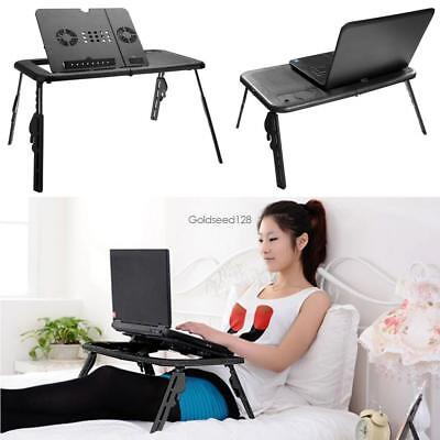 Black 360°Adjustable Folding Laptop Table Lap Desk Bed Computer Tray Stand GSD